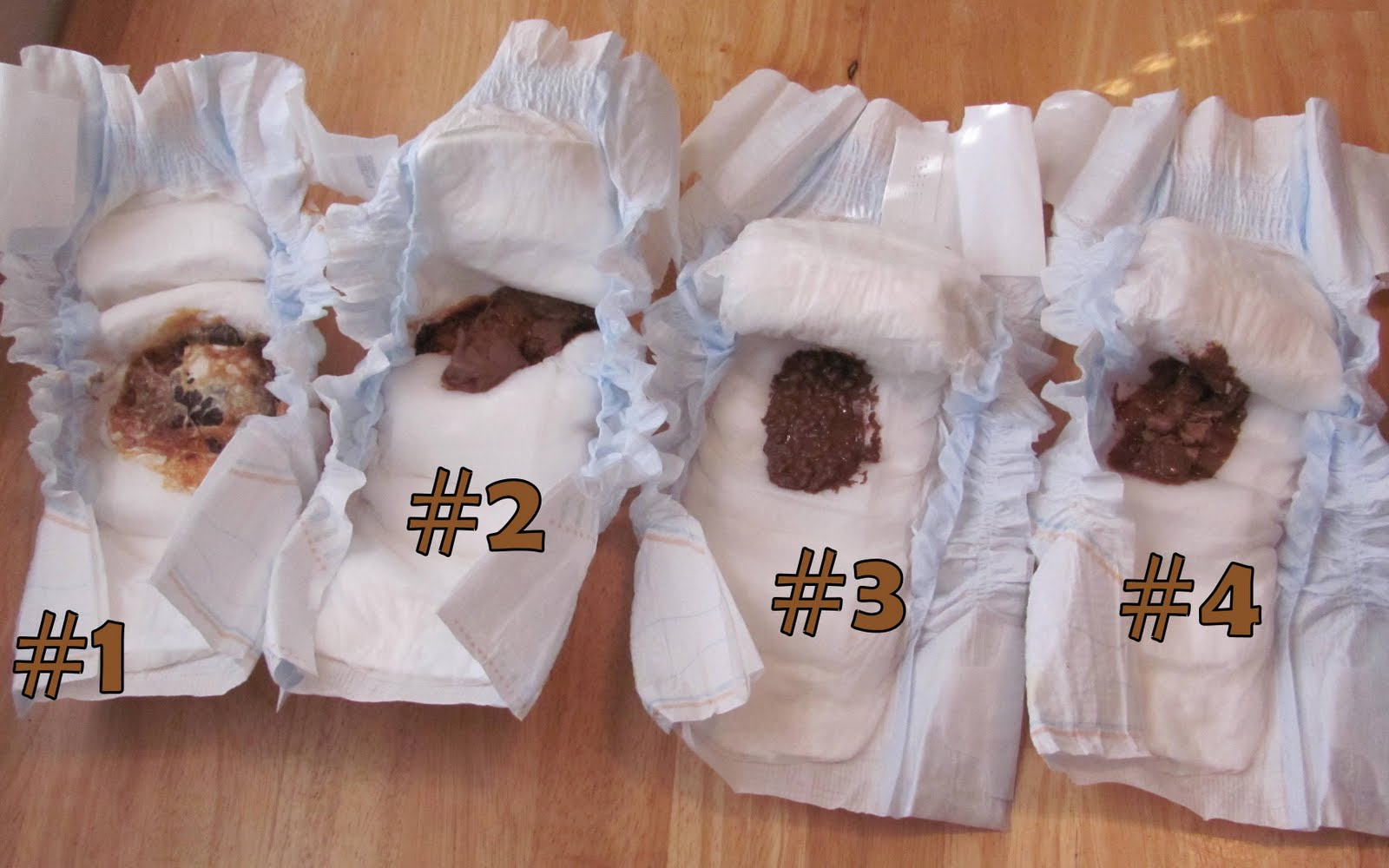 Worst Baby Shower Games. An image of a diaper with melted candy bars in them representing BabyBety's article on Worst Baby Shower Games.